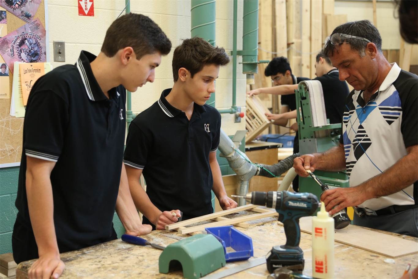 Mr. Antonucci teaching Construction at St. Thomas More Catholic Secondary School