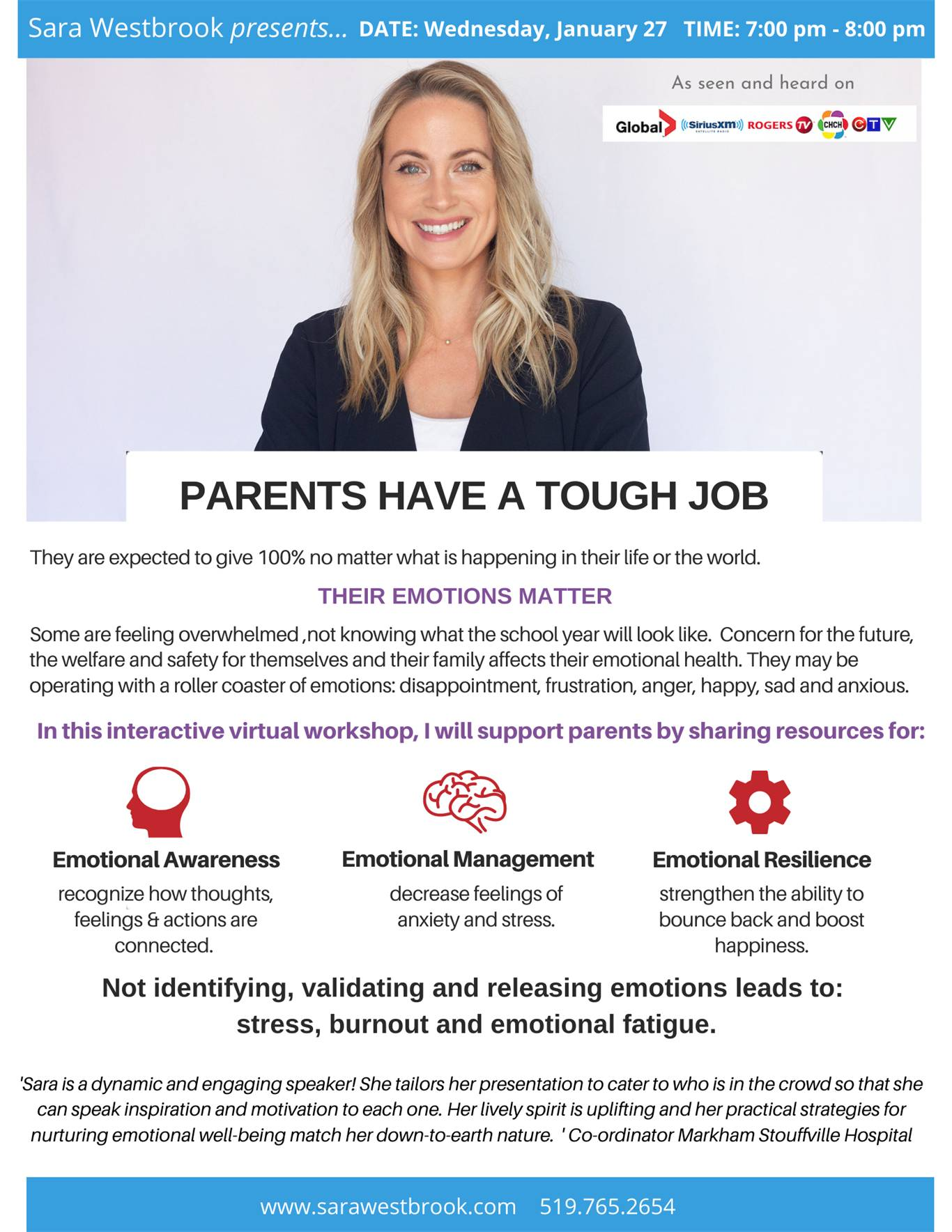 Parents Have A Tough Job: An Evening with Sara Westbrook